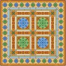 "6919 Geometric Needlepoint Canvas 14"" x 14"""