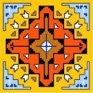 """6580 Southwest Needlepoint Canvas 14"""" x 14"""""""