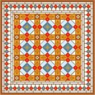 "6063 Geometric Needlepoint Canvas 14"" x 14"""