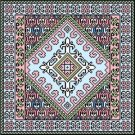 "6051 Geometric Needlepoint Canvas 14"" x 14"""