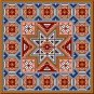 "4148 Geometric Needlepoint Canvas 14"" x 14"""