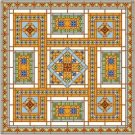 "6910 Geometric Needlepoint Canvas 14"" x 14"""
