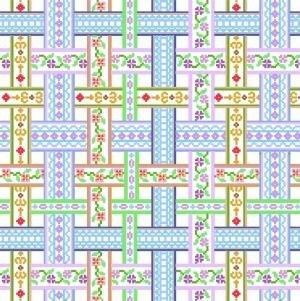 """6035 Ribbon Needlepoint Canvas 14"""" x 14"""""""