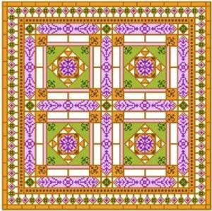 "6904 Geometric Needlepoint Canvas 14"" x 14"""