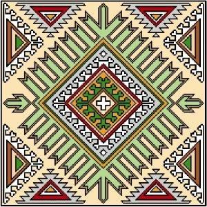 "6056 Geometric Needlepoint Design 14"" x 14"""