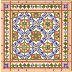 "6903 Geometric Needlepoint Canvas 14"" x 14"""
