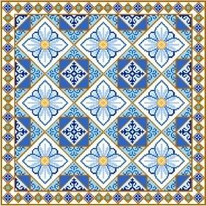 "6944 Geometric Needlepoint Canvas 14"" x 14"""