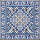 "6050 Geometric Needlepoint Canvas 14"" x 14"""