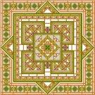 "6917 Geometric Needlepoint Canvas 14"" x 14"""