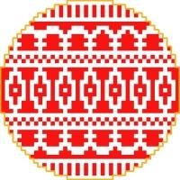1357 Christmas Ornament Needlepoint Canvas