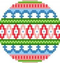 2019 Christmas Ornament Needlepoint Canvas