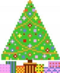 2017 Christmas Tree Ornament Needlepoint Canvas