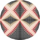 6049 Optical Geometric Needlepoint Canvas