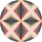 6048 Optical Geometric Needlepoint Canvas