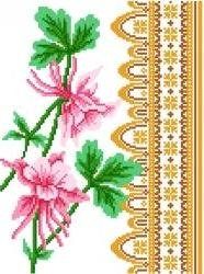 6070 Columbine Floral Needlepoint Canvas