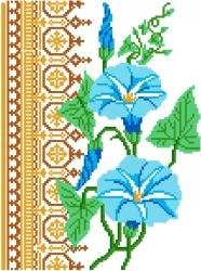 6067 Morning Glories Floral Needlepoint Canvas
