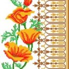 6069 Poppies Floral Needlepoint Canvas