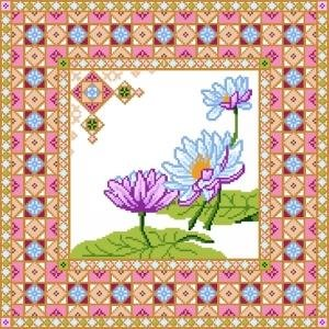 6935 Floral Needlepoint Canvas