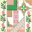 6924 Roses Floral Needlepoint Canvas