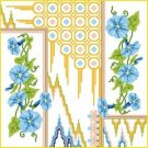 6896 Morning Glories Floral Needlepoint Canvas