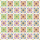 "6027 Geometric Needlepoint Canvas 12"" x 12"""