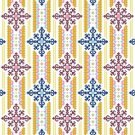 "6087 Geometric Needlepoint Canvas 12"" x 12"""