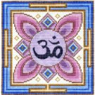 "7129 Om Mandala Needlepoint Canvas 7"" x 7"""