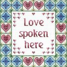 6219 Love Saying Needlepoint Canvas