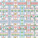 6212 Heart Ribbon Weave Needlepoint Canvas