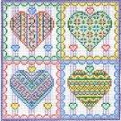 6215 Hearts Needlepoint Canvas