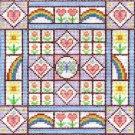 6291 Rainbow Hearts Needlepoint Canvas