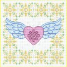 7138 Winged Heart Needlepoint Canvas