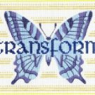 7125 Butterfly Transform Needlepoint Canvas