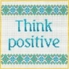 7117 Think Positive Needlepoint Canvas