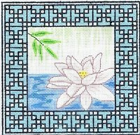 6282 Zen Lotus Needlepoint Canvas