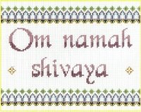 7136 Om Namah Shivaya Needlepoint Canvas