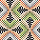 6268 Optical Geometric Needlepoint Canvas