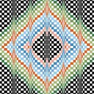 6264 Optical Geometric Needlepoint Canvas