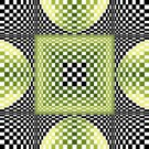 6249 Optical Geometric Needlepoint Canvas