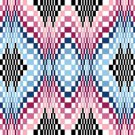 6263 Optical Geometric Needlepoint Canvas