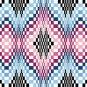 6262 Optical Geometric Needlepoint Canvas