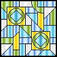 6232 Geometric Abstract Needlepoint Canvas