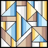 6228 Geometric Abstract Needlepoint Canvas