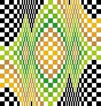 6260 Optical Geometric Needlepoint Canvas