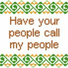 6115 Sayings Needlepoint Canvas