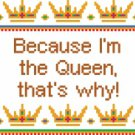 6147 Queen Needlepoint Canvas