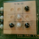 Classic Tic Tac Toe Solid Wood Game Travel Size