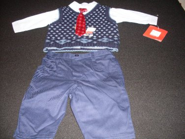 Baby Boys Dressy Outfit, 3 Piece Togs Kidswear Co. Size 3-6 Months
