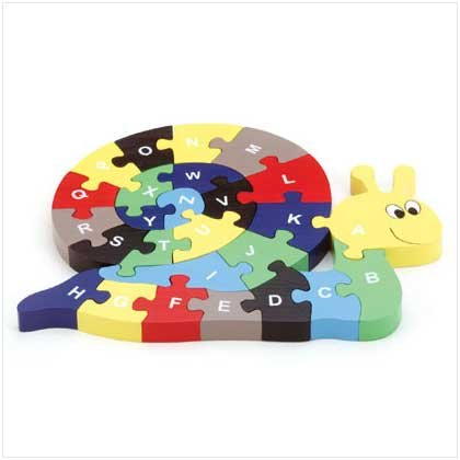 26 PC WOOD SNAIL PUZZLE