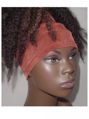 Natural  Hair Accessory-Headband-Tube-Dreadlocks-Rust Brown-VirtuousCreations